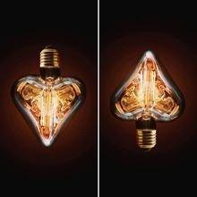 Лампа накаливания прозрачное сердце