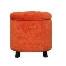 Оранжевый пуф-контейнер на ножках