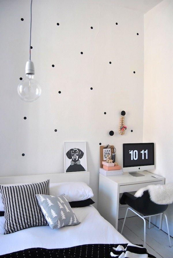 Фотография: Спальня в стиле Скандинавский, Кабинет, Интерьер комнат – фото на InMyRoom.ru