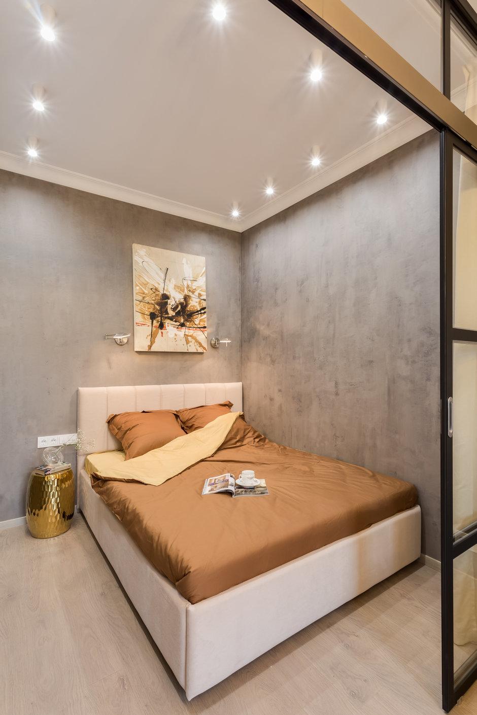 Фотография: Спальня в стиле Лофт, Квартира, Проект недели, Химки, Вера Николаенко, Монолитный дом, 1 комната, 40-60 метров, ЖК «Мишино» – фото на InMyRoom.ru