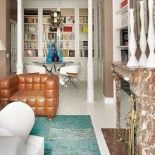 Фотография: Гостиная в стиле Эклектика, Декор интерьера, Квартира, Дизайн интерьера, Цвет в интерьере – фото на InMyRoom.ru