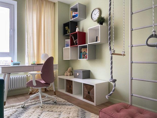 Фотография: Детская в стиле Современный, Квартира, Проект недели, Красногорск, 2 комнаты, 40-60 метров, One Line Design – фото на INMYROOM