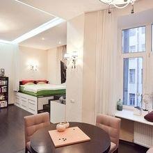 Фотография: Гостиная в стиле Современный, Малогабаритная квартира, Квартира, Студия, Планировки – фото на InMyRoom.ru