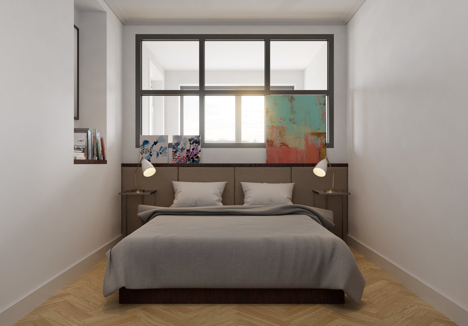 Фотография:  в стиле , Классический, Современный, Эклектика, Квартира, Flos, Gubi, Белый, Проект недели, Москва, Серый, Коричневый, Philips, Перегородки, Vibia, Manders, Cosmorelax, кухня-гостиная, TopCer, Aster, FonBureau, если в комнате нет окна, комната без окна, идеи для комнаты без окна, Centrsvet, кухня-гостиная со входами в спальни, обустройство отдельной гардеробной, спальня с гардеробом, интерьер кабинета, кухня-гостиная дизайн, сценарии освещения, гардеробная в квартире, покрытие паркет, как оформить трехкомнатную квартиру, дизайн трехкомнатной квартиры, спальня без окна, Breuer, «Бобр-паркет» – фото на InMyRoom.ru