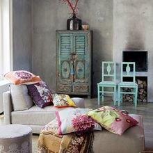 Фотография: Гостиная в стиле Кантри, Декор интерьера, Текстиль, Декор, Декор дома, Пэчворк – фото на InMyRoom.ru