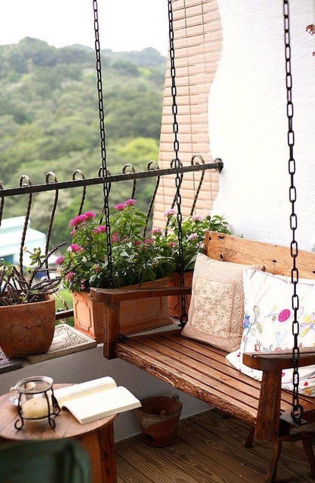 Фотография: Балкон в стиле Эко, Гид, как обустроить открытый балкон, открытый балкон, идеи для открытого балкона, как обустроить балкон, балкон в квартире – фото на INMYROOM