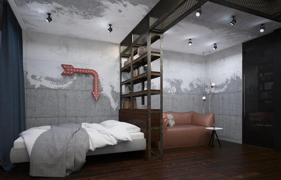 Фотография: Спальня в стиле Лофт, Проект недели, П-3М, GM-Interior – фото на InMyRoom.ru