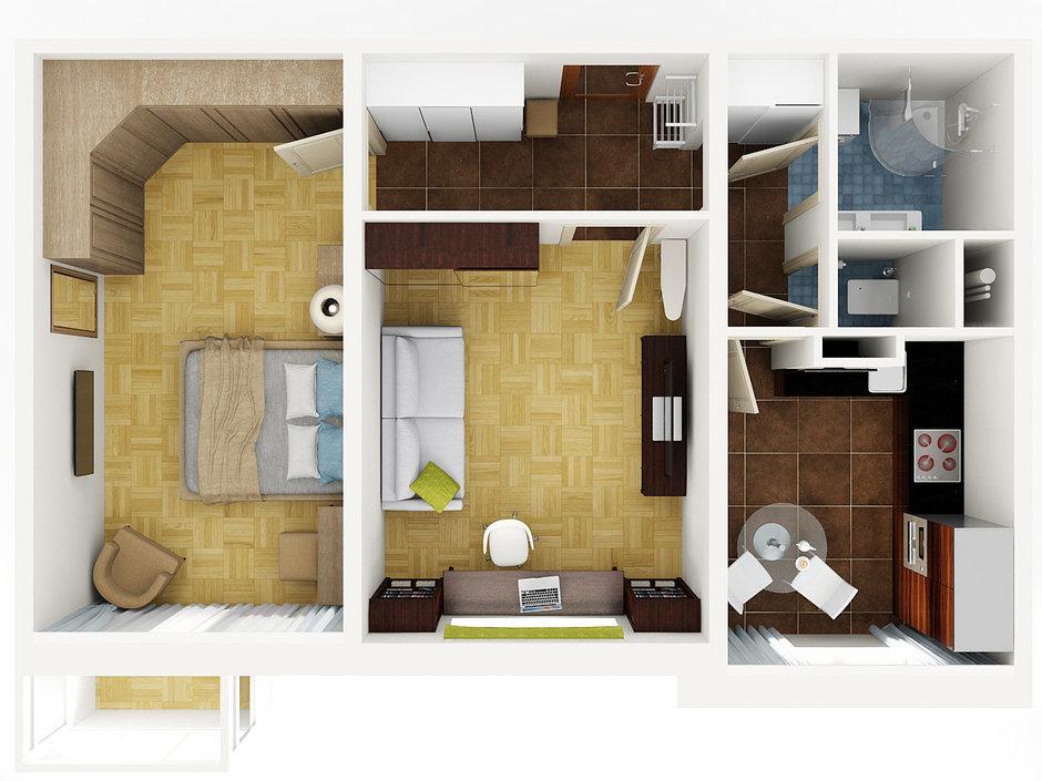 Дизайн проекты 2 х комнатных квартир 54 кв м.