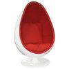 Кресло яйцо Ovalia Egg Style Chair красная ткань