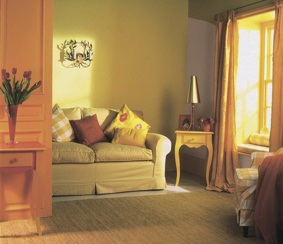 Фотография: Гостиная в стиле Прованс и Кантри, Декор интерьера, Дизайн интерьера, Цвет в интерьере, Советы, Dulux, Оранжевый – фото на InMyRoom.ru