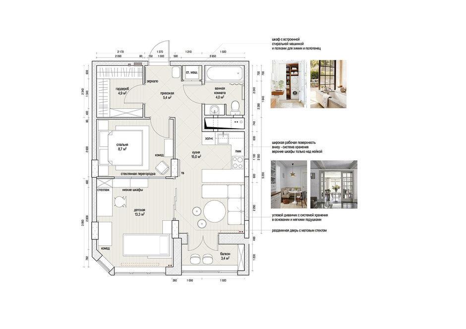 Фотография:  в стиле , Квартира, Проект недели, Москва, как из однушки сделать двушку, Айя Лисова – фото на InMyRoom.ru