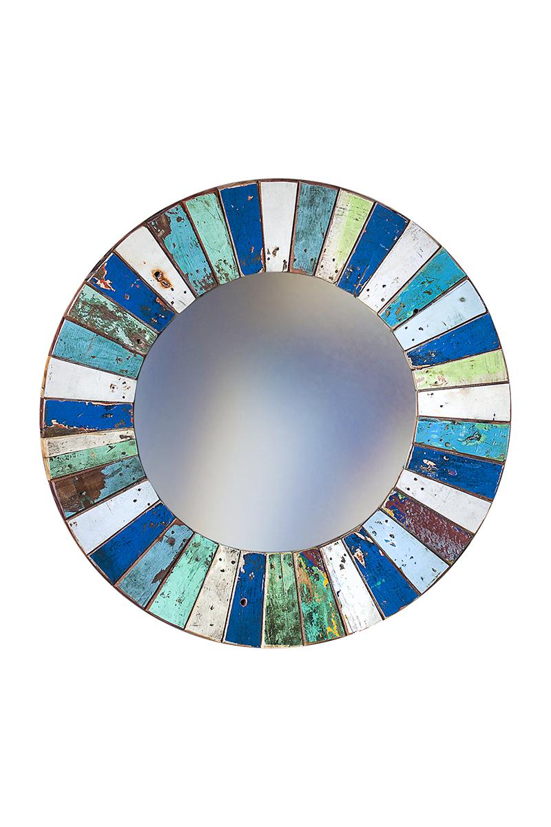 Купить Настенное зеркало круглое Колобок , inmyroom, Индонезия