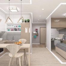 Фото из портфолио Дизайн интерьера квартиры-студии – фотографии дизайна интерьеров на INMYROOM