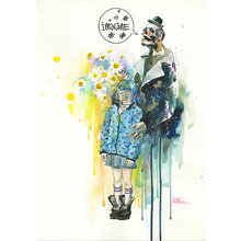 "Принт ""Little Girl and Mr. Death"" by Lora Zombie"