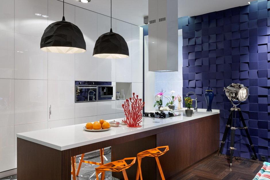 Фотография: Кухня и столовая в стиле Лофт, Современный, Малогабаритная квартира, Квартира, Дома и квартиры, Перепланировка – фото на InMyRoom.ru