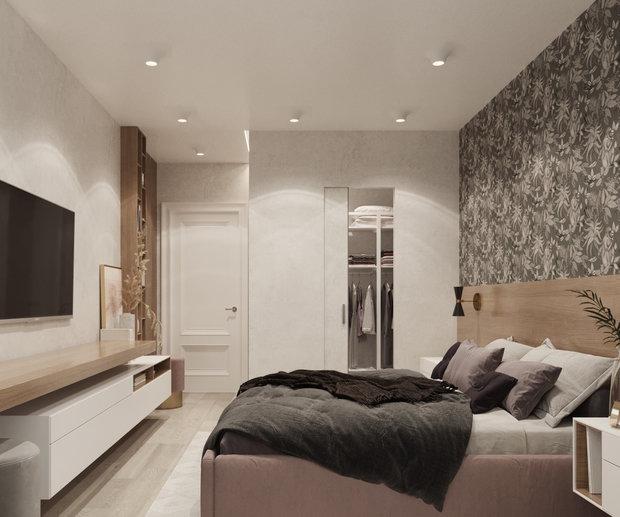 Фотография: Спальня в стиле Современный, Квартира, Проект недели, Москва, Юлия Чернова, 3 комнаты, 60-90 метров – фото на INMYROOM