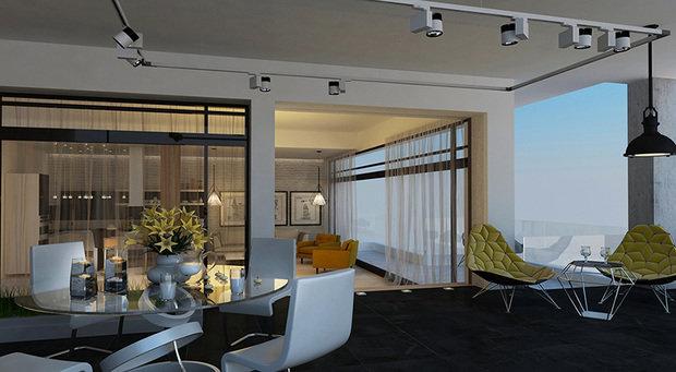 Фото из портфолио Дизайн загородного дома в стиле минимализм – фотографии дизайна интерьеров на INMYROOM