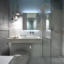 Фотография: Ванная в стиле Современный, Квартира, Проект недели, 3 комнаты, Более 90 метров, Светлогорск, Марина Кутузова, Дизайн-студия «Детали» – фото на InMyRoom.ru