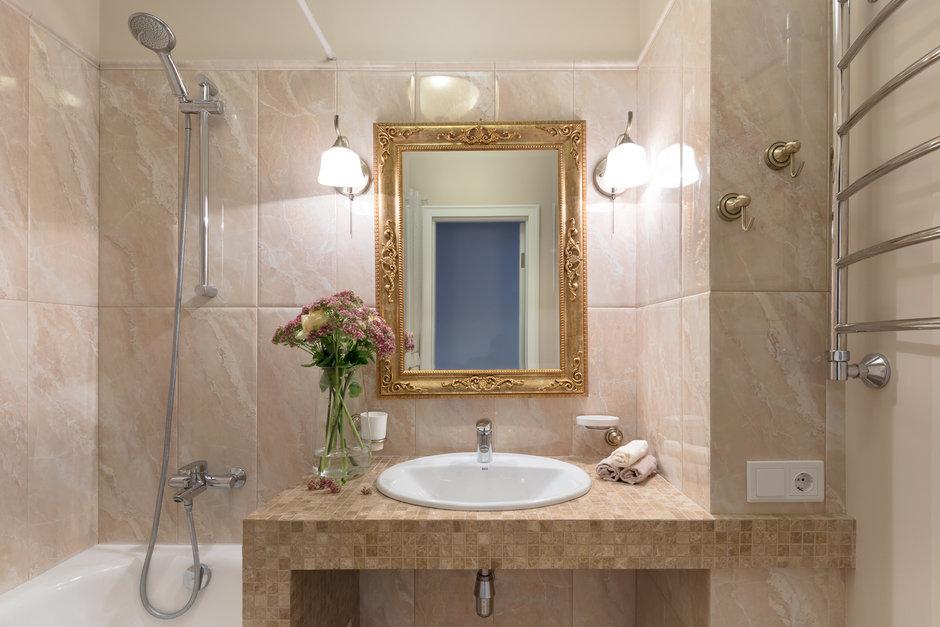 Фотография: Ванная в стиле Современный, Прованс и Кантри, Квартира, Проект недели, Балашиха, Монолитный дом, 2 комнаты, 60-90 метров, Анна Елина – фото на InMyRoom.ru