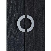 Комод с двумя ящиками черного цвета