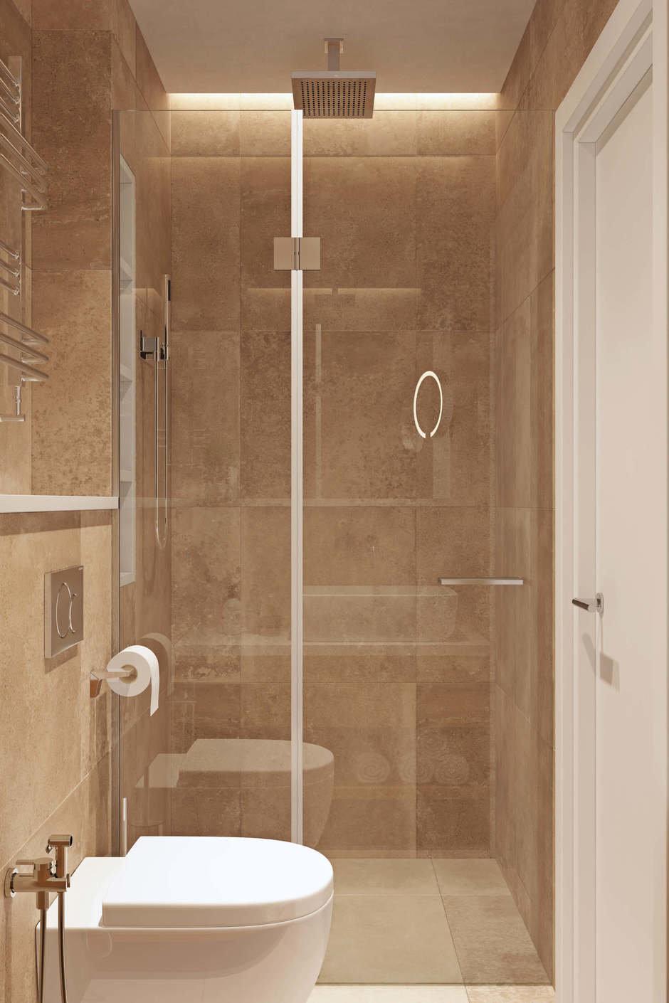 Фотография: Ванная в стиле Современный, Квартира, Проект недели, Geometrium, Монолитный дом, 3 комнаты, 60-90 метров, ЖК «Арт Casa Luna» – фото на InMyRoom.ru