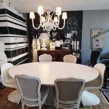 Фотография: Кухня и столовая в стиле Эклектика, Малогабаритная квартира, Квартира, Дома и квартиры, Нью-Йорк, Ар-деко, Индустриальный – фото на InMyRoom.ru