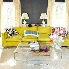 Фотография: Гостиная в стиле Современный, Декор интерьера, Дизайн интерьера, Цвет в интерьере, Желтый, Розовый, Оранжевый, Неон – фото на InMyRoom.ru