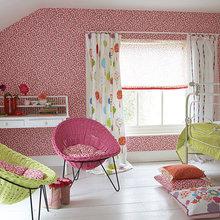 Фотография: Детская в стиле Современный, Декор интерьера, Дизайн интерьера, Мебель и свет, Цвет в интерьере, Стены, Розовый, Фуксия – фото на InMyRoom.ru