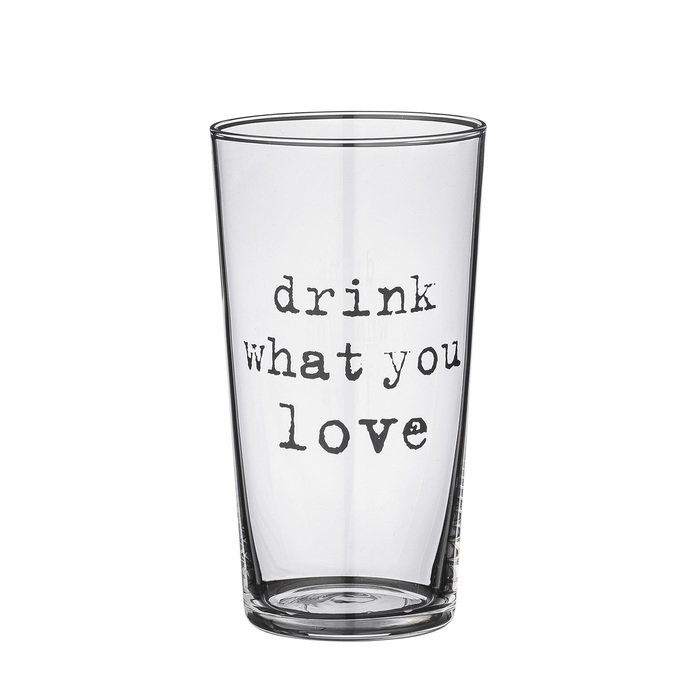 "СТАКАН Bloomingville ""DRINK WHAT YOU LOVE"""