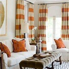 Фотография: Гостиная в стиле Кантри, Классический, Современный, Декор интерьера, Дизайн интерьера, Цвет в интерьере, Оранжевый – фото на InMyRoom.ru