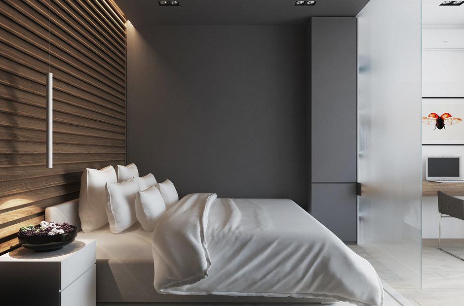 Фотография: Спальня в стиле Лофт, Современный, Квартира, Минимализм, Проект недели – фото на InMyRoom.ru