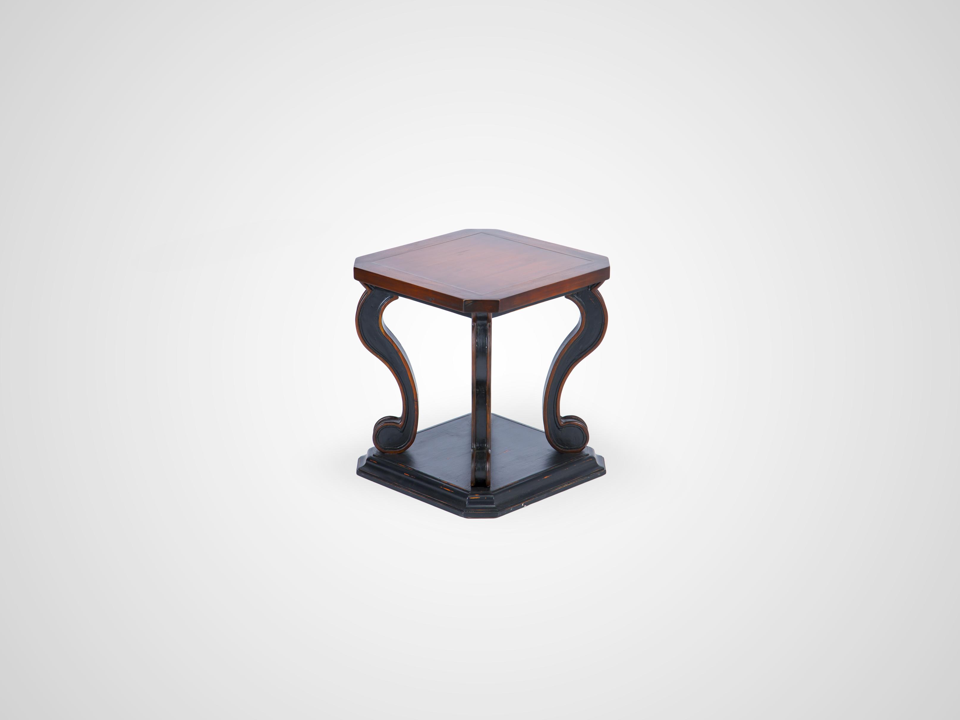 Купить Ламповый столик из дерева махагони, декорирован старением 66x61x61 см, inmyroom, Индонезия