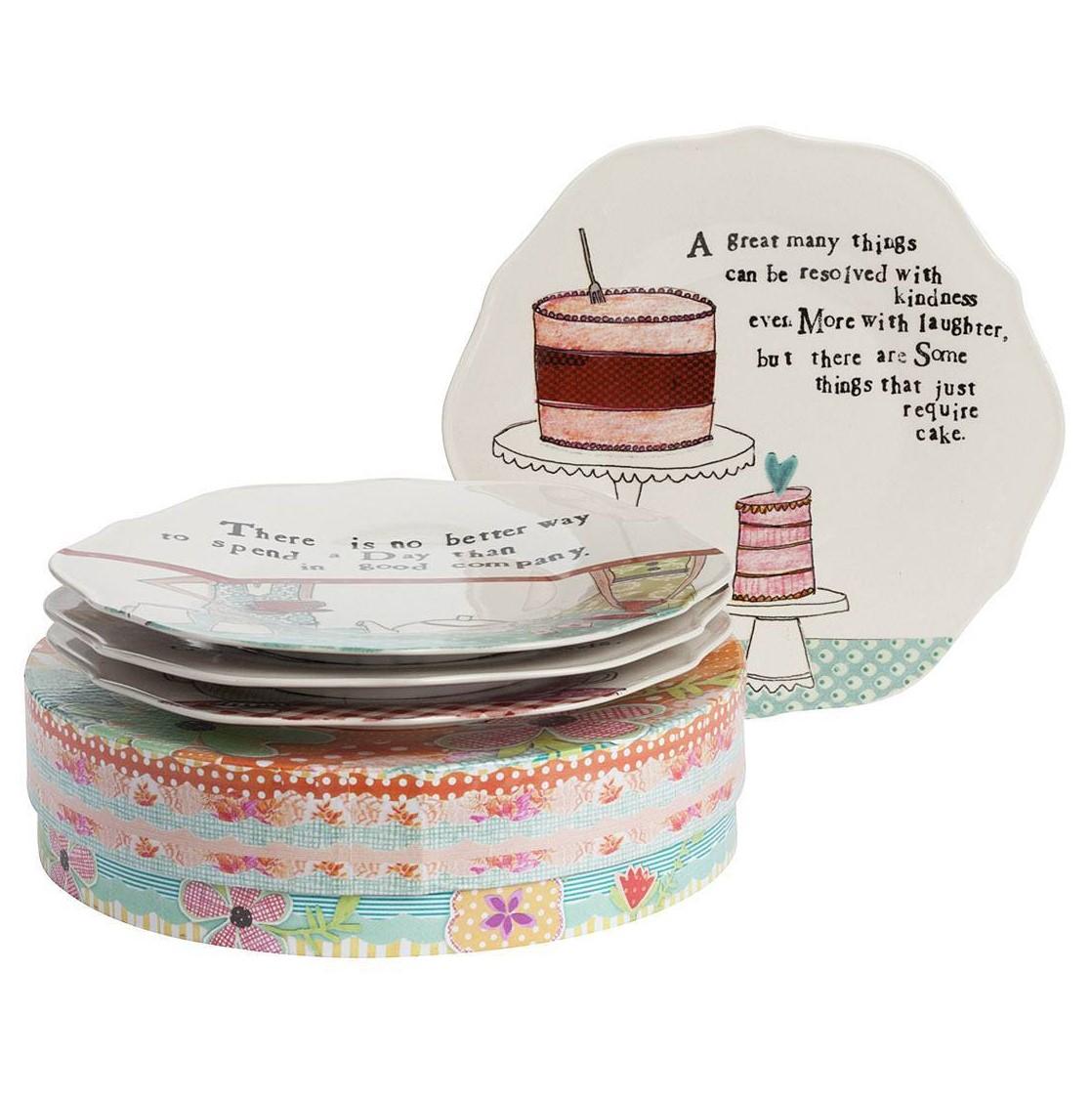 Купить со скидкой Набор из 4 тарелок в подарочной упаковке Story About us