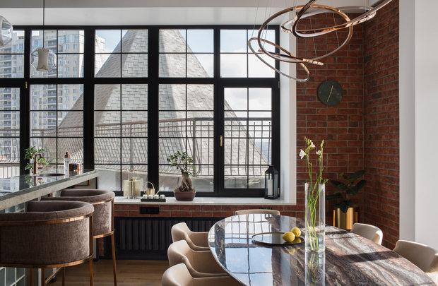 Фотография: Кухня и столовая в стиле Лофт, Квартира, Проект недели, Пентхаус, 4 и больше, Более 90 метров, Владивосток, #эксклюзивныепроекты, Miyao Studio – фото на INMYROOM