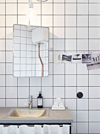 Фотография: Ванная в стиле Скандинавский, Квартира, Дом, Цвет в интерьере, Дома и квартиры, Белый – фото на INMYROOM