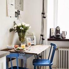 Фотография: Кухня и столовая в стиле Скандинавский, Советы, Синий, Виктория Тарасова – фото на InMyRoom.ru