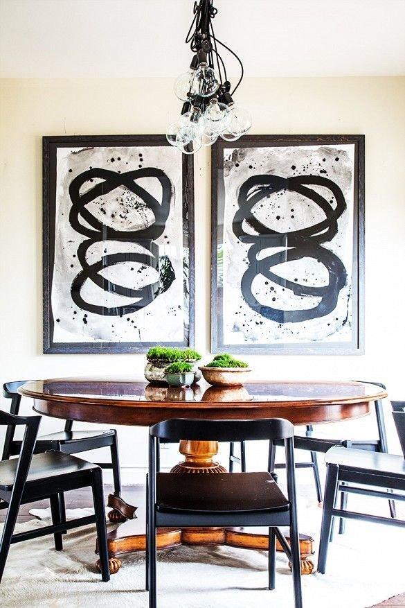 Фотография: Кухня и столовая в стиле Скандинавский, Декор интерьера, Декор, абстрактная живописть в интерьере, абстрактное искусство в интерьере – фото на InMyRoom.ru