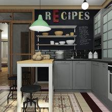 Фотография: Кухня и столовая в стиле Лофт, Эклектика, Квартира, Дома и квартиры, IKEA, Проект недели – фото на InMyRoom.ru