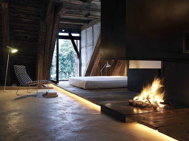 Фотография: Спальня в стиле Эко, Декор интерьера, Декор, Мебель и свет, освещение – фото на InMyRoom.ru