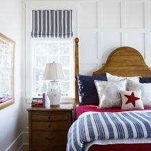 Фотография: Спальня в стиле Кантри, Декор интерьера, Дизайн интерьера, Декор, Цвет в интерьере, Морской – фото на InMyRoom.ru