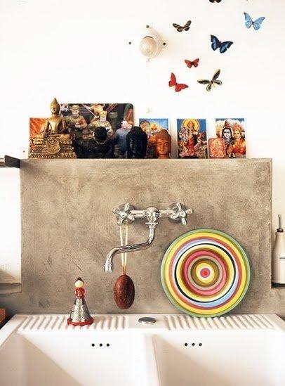Фотография: Декор в стиле Восточный, Кухня и столовая, Декор интерьера, Дом, Декор дома, Плитка, Мозаика, Кухонный фартук – фото на InMyRoom.ru