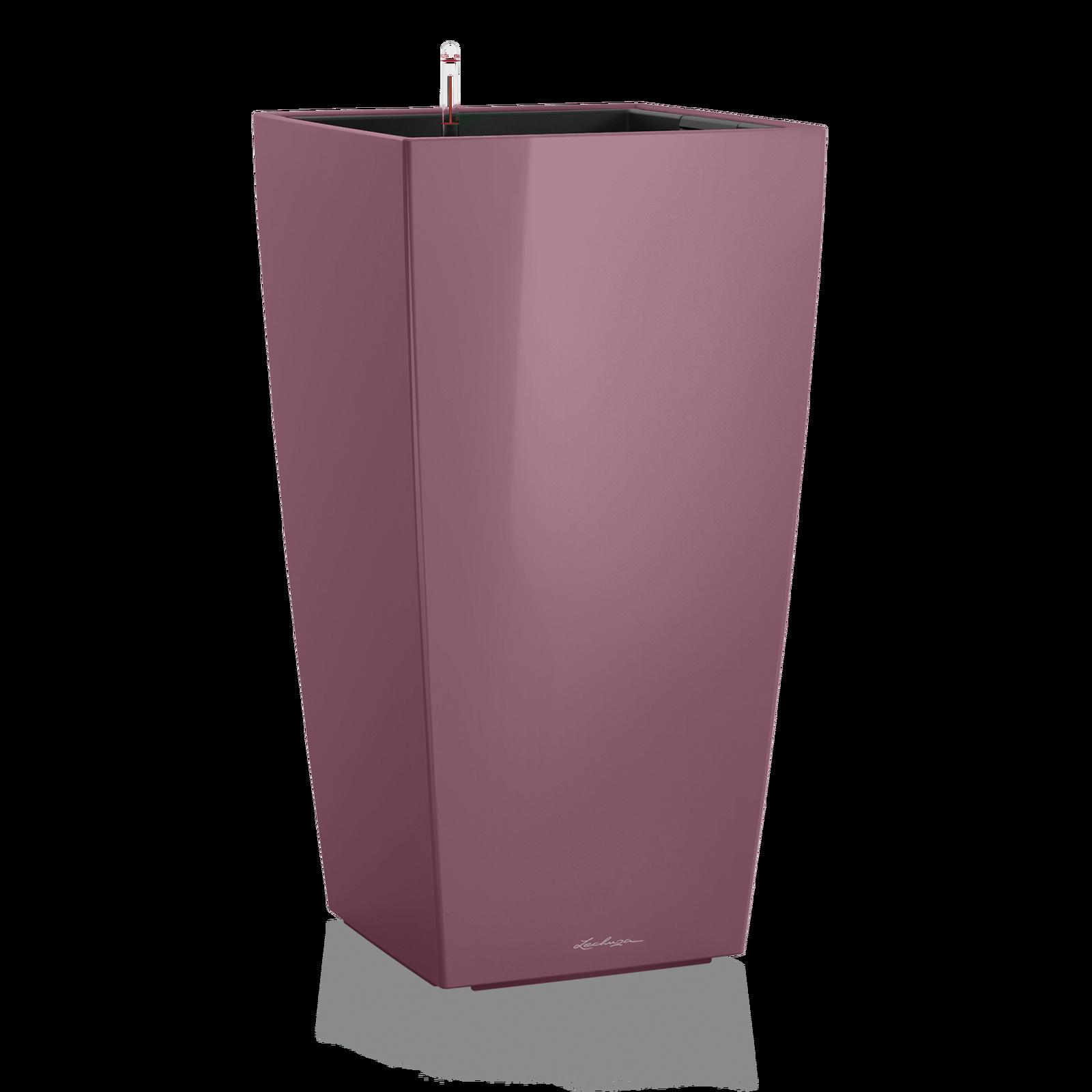 Кашпо кубико сливового цвета с системой автополива