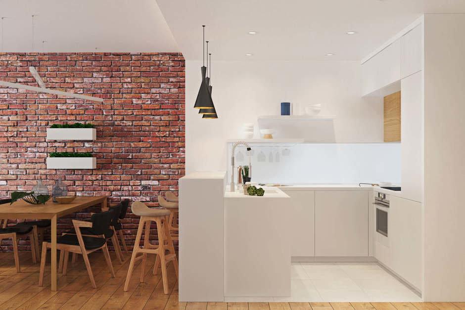 Фотография: Кухня и столовая в стиле Современный, Квартира, Проект недели, Geometrium, Монолитный дом, 3 комнаты, 60-90 метров, ЖК «Арт Casa Luna» – фото на InMyRoom.ru