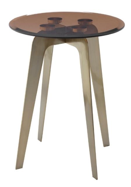 Купить Приставной столик Volterra со стеклянной столешницей, inmyroom, Великобритания