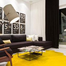 Фотография: Гостиная в стиле Лофт, Скандинавский, Декор интерьера, Дизайн интерьера, Цвет в интерьере – фото на InMyRoom.ru