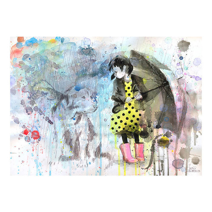 Принт Rain Dog А2