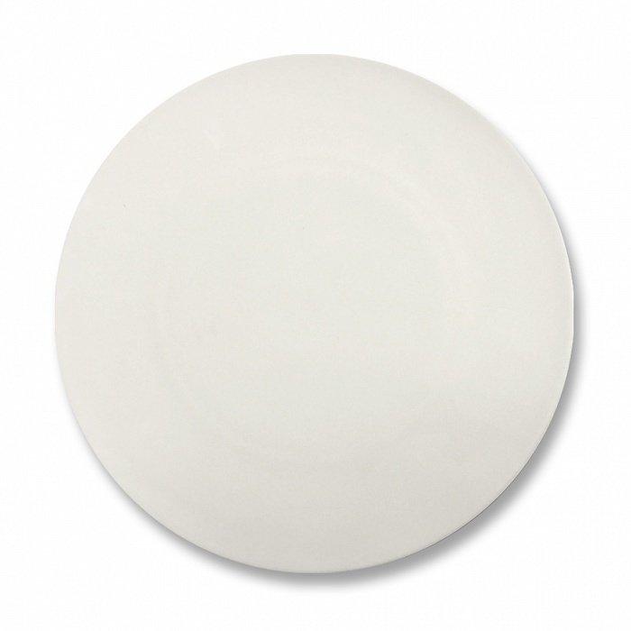 Тарелка столовая безбортовая Космос белого цвета