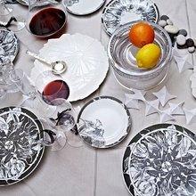 Тарелка столовая Листопад из фарфора