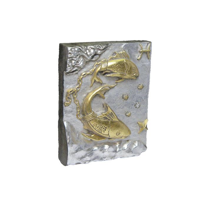 Панно Знак зодиака РЫБЫ (серебряно-золотой)