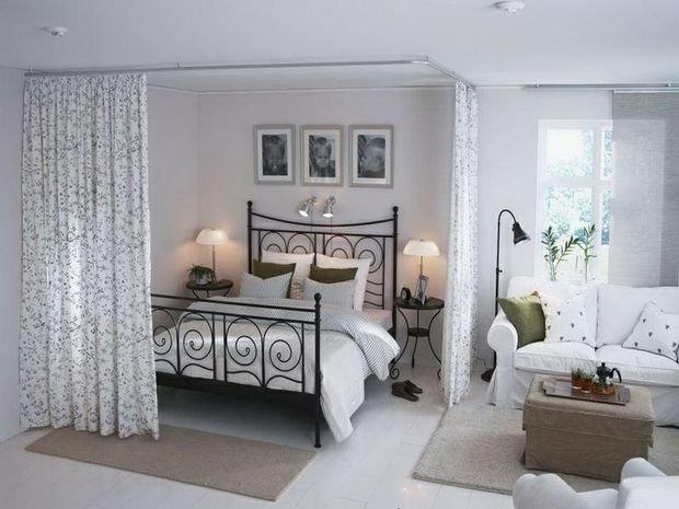 Фотография: Спальня в стиле Прованс и Кантри, Скандинавский, Дизайн интерьера – фото на InMyRoom.ru